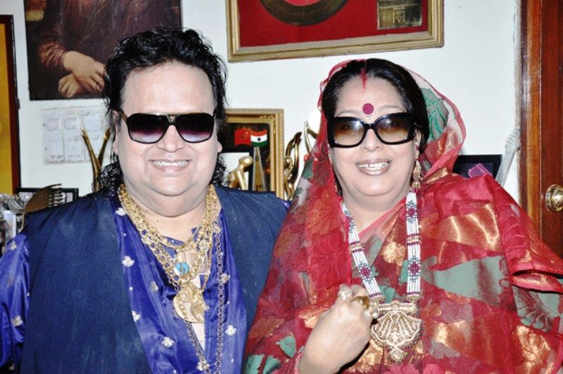 Bappi Lahiri With His Wife