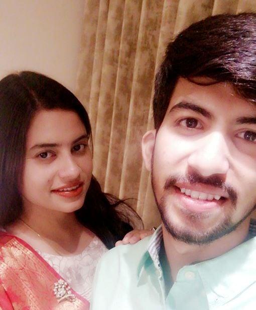 Kavita Tiwari with her brother
