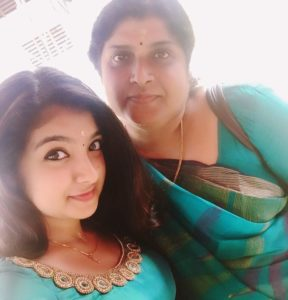 Malavika Nair with her mother