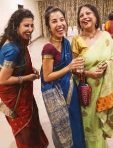 Niharika Lyra Dutt with her mother and sister