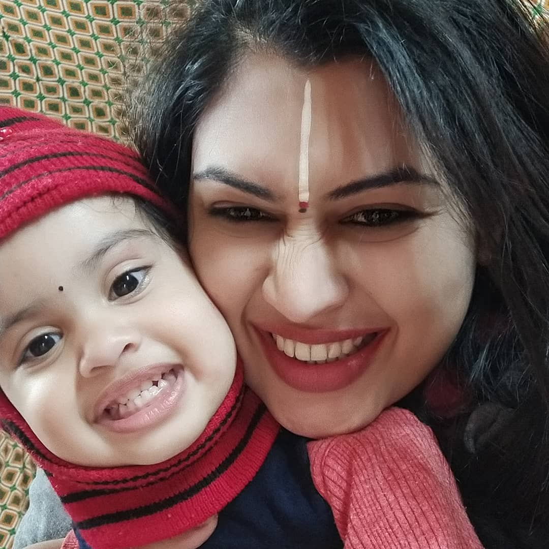 Prachi Devi with her daughter