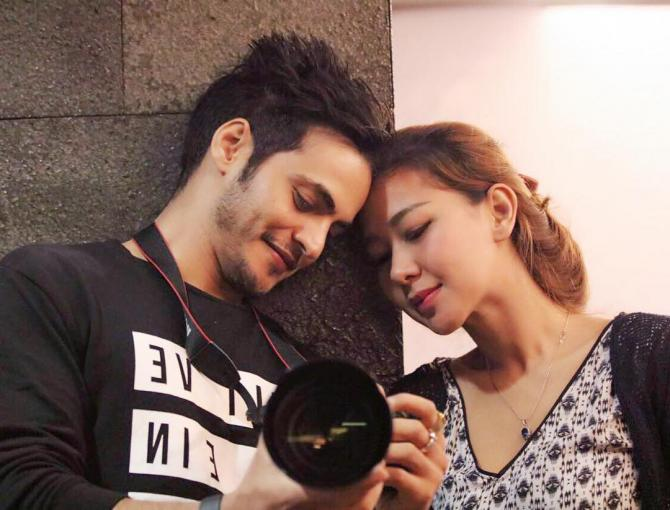 Ravi Bhatia with his ex-wife, Yulida Bhatia
