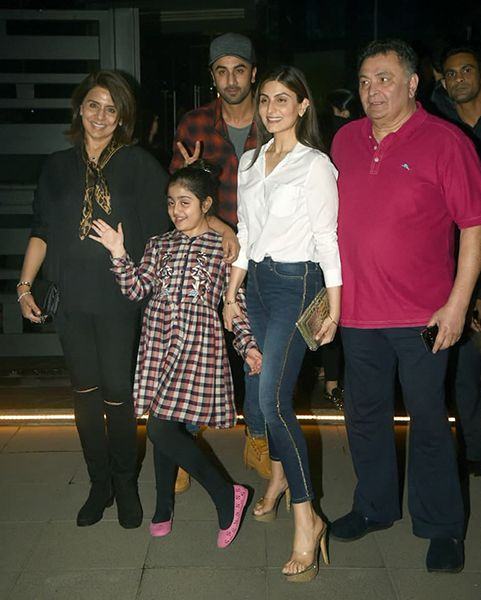 Riddhima Kapoor Sahni with her Family
