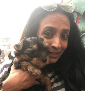 Suchitra Pillai at a pet fair in Mumbai