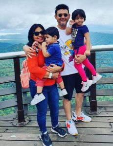 Swapnil Joshi with his family