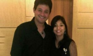 Swapnil Joshi with his wife