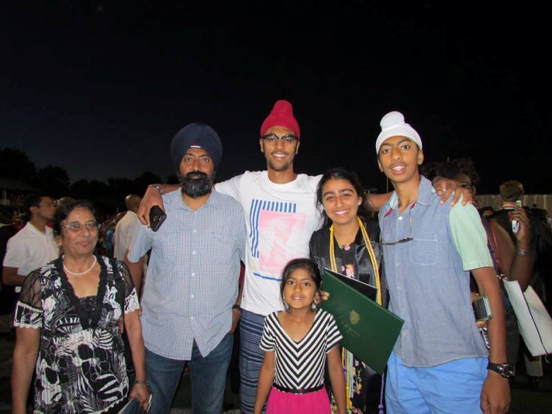 A family picture of Anmol Narang captured in 2015