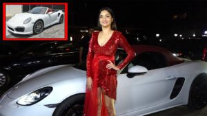 Ankita Lokhande with her car