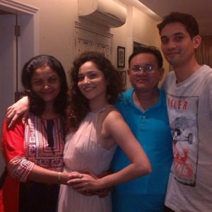 Ankita Lokhande with her family