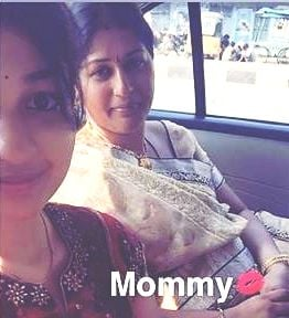 Darshini Sekhar with her mother