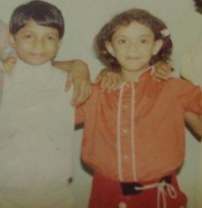 Lizelle D'Souza's childhood picture