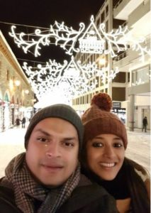 Paoli Dam with her husband