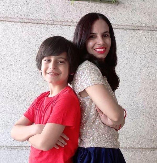 Pratyaksh Panwar With His Mother