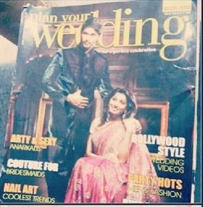 Ragini Chandran on the cover of Plan your Wedding Magazine