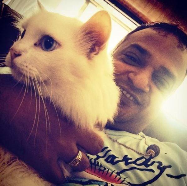 Sajid Khan With His Pet Dog