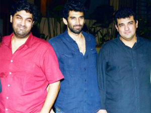 Siddharth Roy Kapur with his brothers