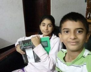 Siddhi Mahajankatti with her brother