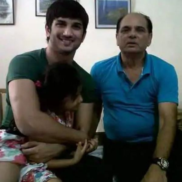 Sushant Singh Rajput With His Father
