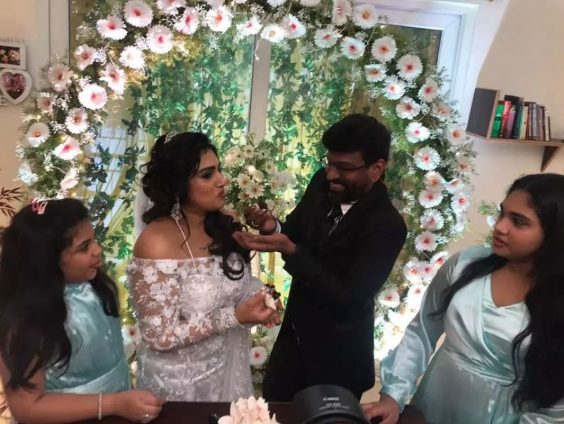 Vanitha Vijayakumar and Peter Paul's Wedding