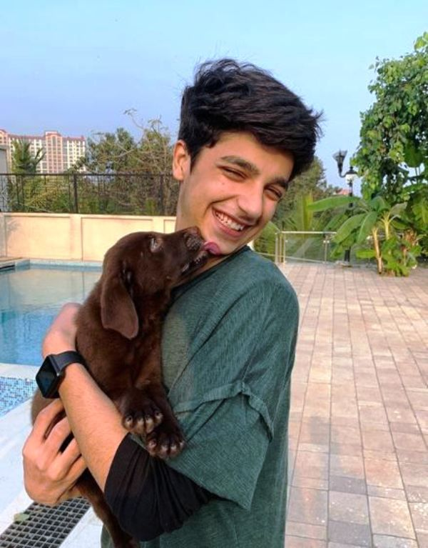 Viren Vazirani With a Dog