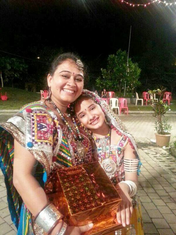 Virti Vaghani With Her Mother