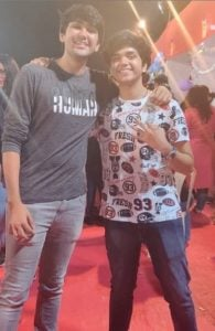 Vishesh Bansal with his brother