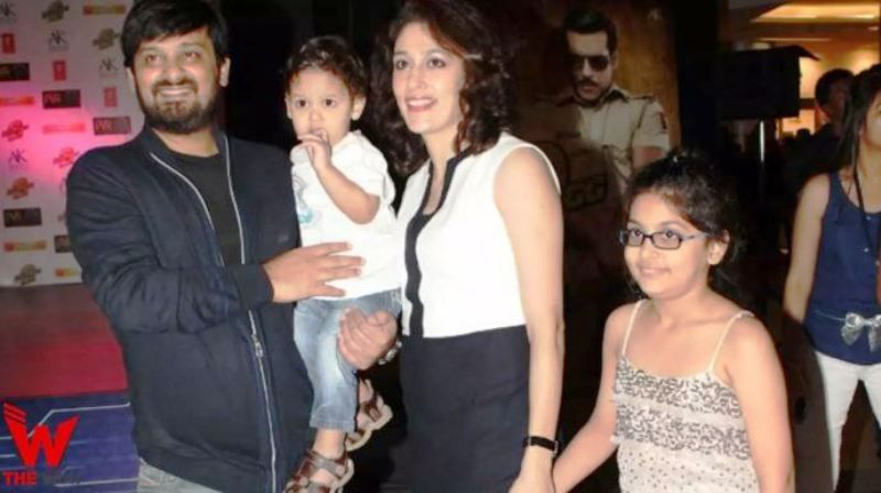 Wajid Khan With His Wife and Children