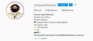 Zorawar Singh Ahluwalia's Instagram Profile