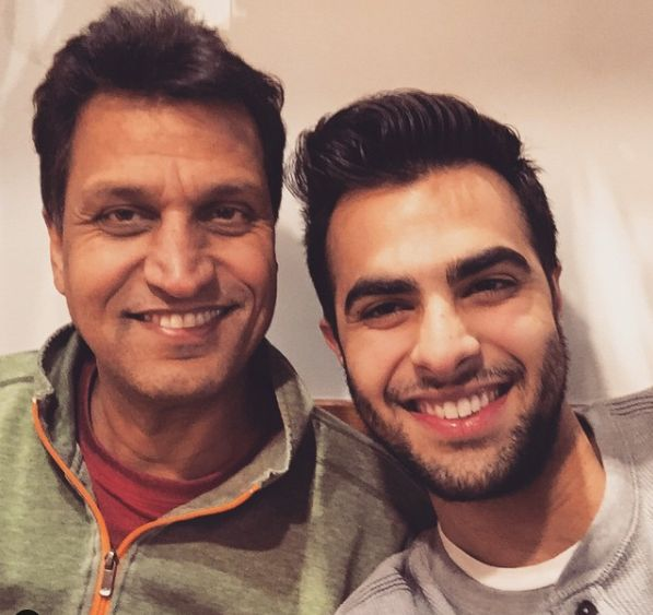 Ankur Rathee with his father