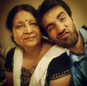 Avinash Tiwary with his mother