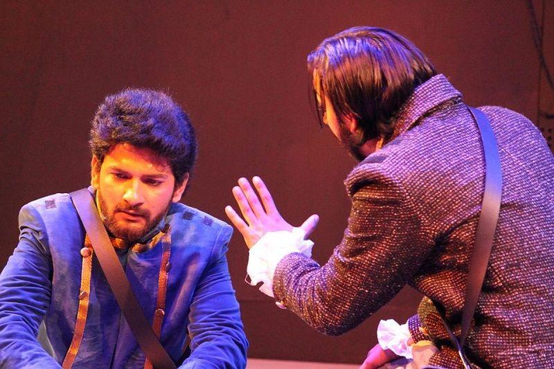Basu Soni Performing in a Theatre Play