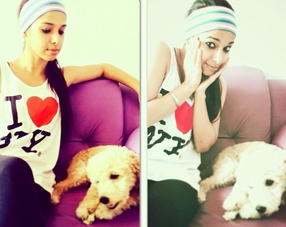 Bhawna Khanduja with her pet dog