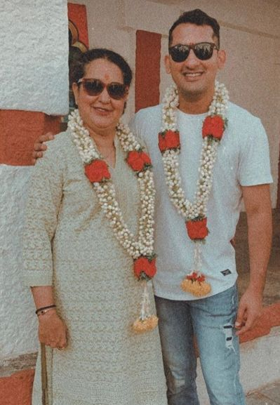 Danish Sait with his mother