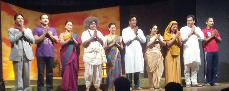 Hrishikesh Joshi in a Theatre Play