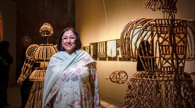 Kiran nadar at the Kiran Nadar Museum of Art