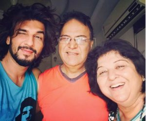Manish Raisinghan with his parents