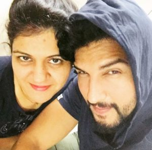 Manish Raisinghan with his sister