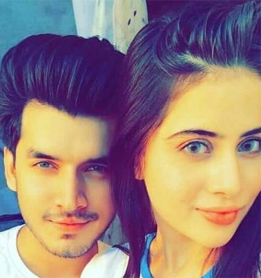Paras Kalnawat with his ex-girlfriend, Urfi Javed