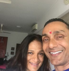 Rahul Bose and his sister