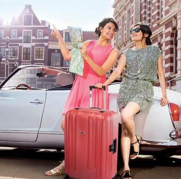 Rhea Sharma in VIP bags advertisement