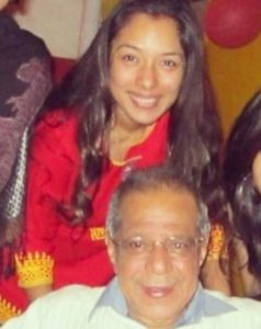 Rupali Ganguly with her father