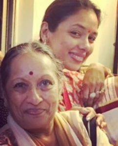 Rupali Ganguly with her mother