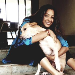 Rupali Ganguly with her pet dog