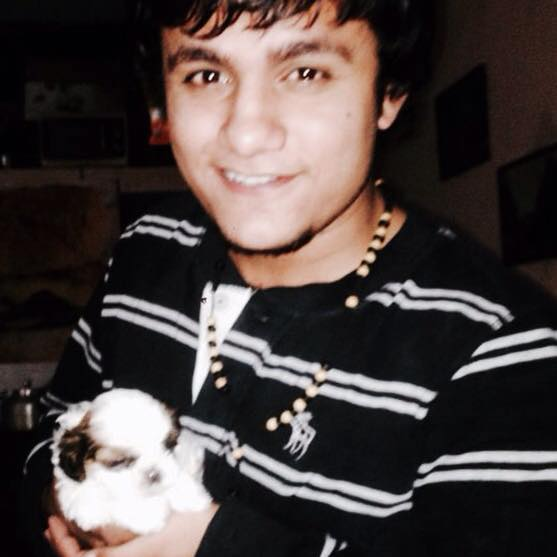 Shubham Mishra is a dog lover