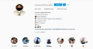 Zorawar Singh Ahluwalia Instagram Profile