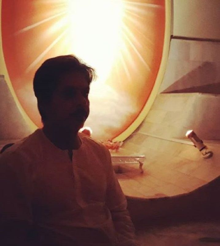 Amit Mistry Doing Meditation at Brahma Kumaris Ashram