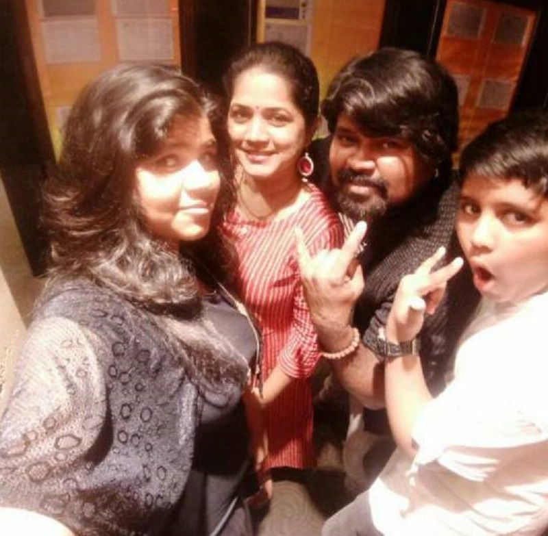 Amma Rajasekhar With His Wife and Children