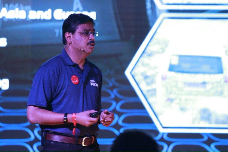 Girish Wagh during a product launch