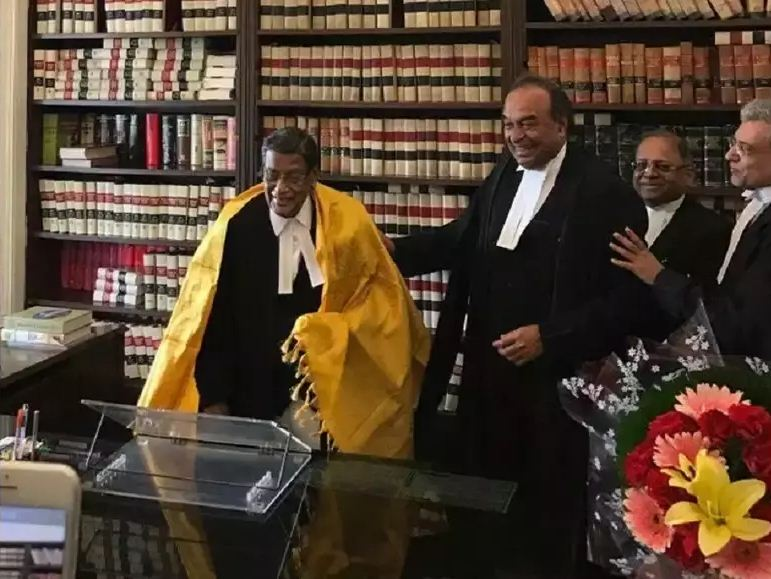 K. K. Venugopal in his chamber