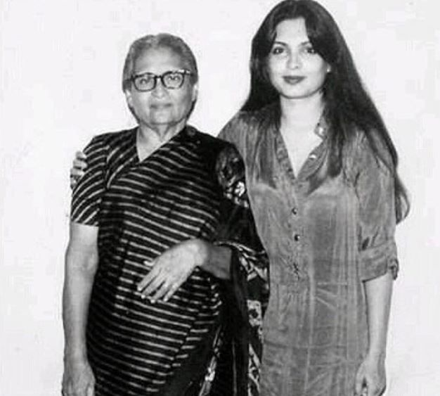 Parveen Babi With Her Mother